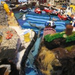 The Knitted harbour , made by 100 visitors viewed by 8,000 2010
