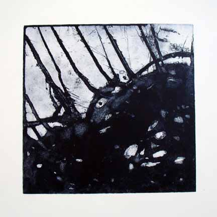 Retrace no4 | 2008 Etching 30x30cm
