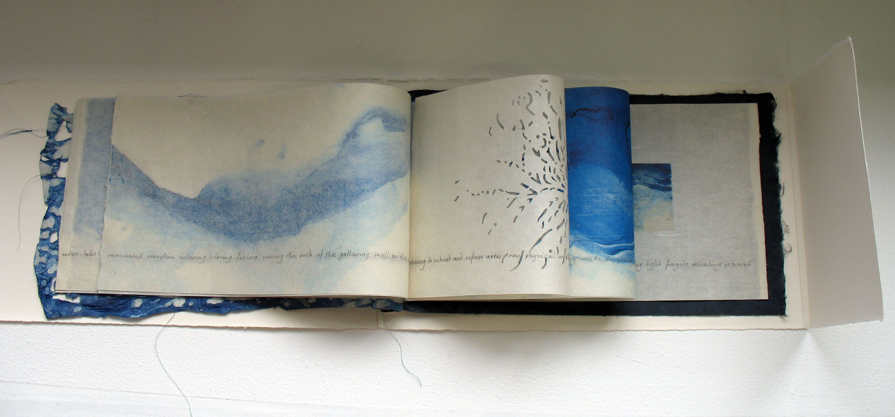 'Traced' 2008 limited ed book 30x15cm